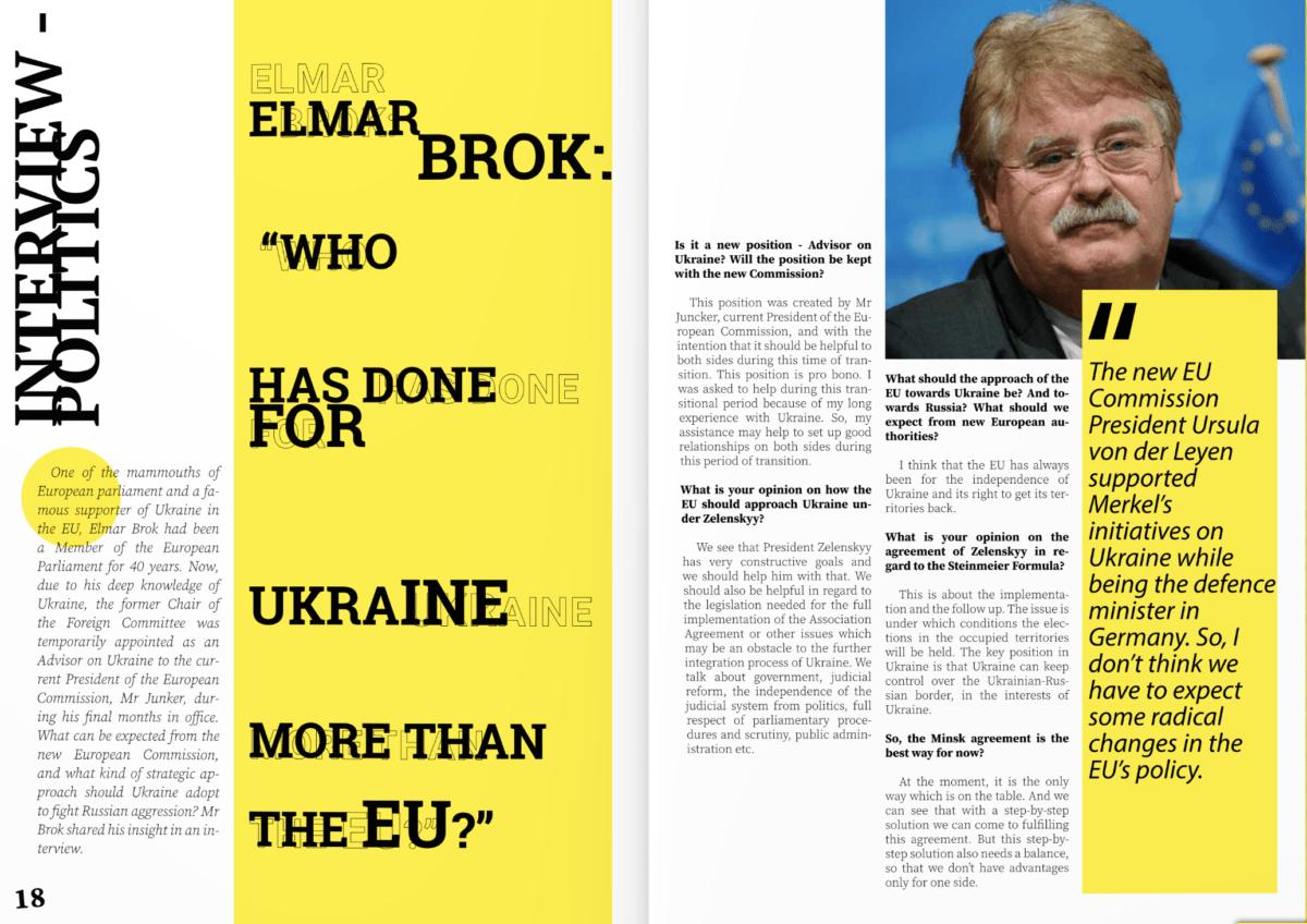 Елмар Брок: «Хто зробив для України більше, ніж ЄС?!»