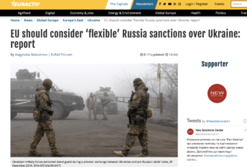 Brussels based think tank: sanctions relief towards Russia needed