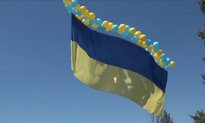 Flag in Donbass