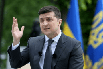 President Zelensky's rating is falling