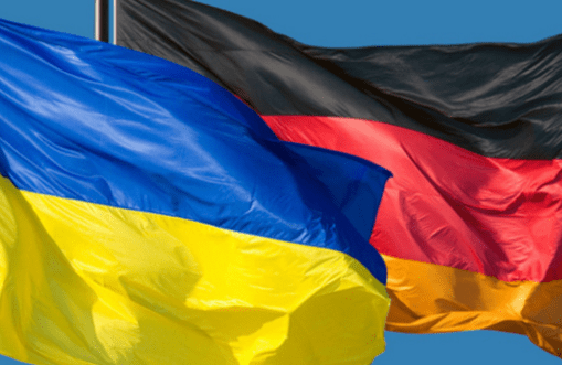 Flags Ukraine Germany