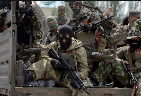 Russia soldats in Donbass