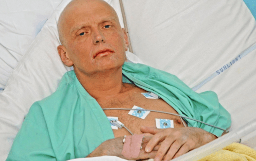 Oleksandr Litvinenko in hospital