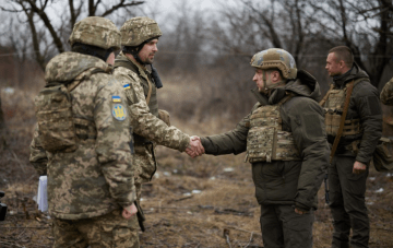 President Zelensky Arrives in Donbas to Boost Soldiers' Morale