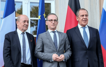 Foreign Ministers of Germany, France, Russia Discuss Situation in Donbas